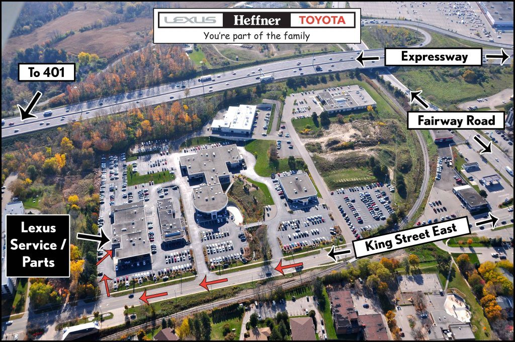 Property Map to Heffner Lexus Service.
