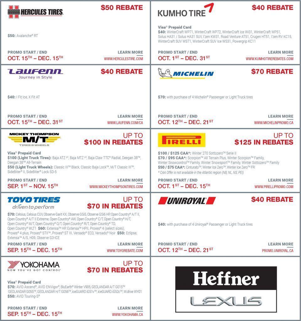 Heffner Lexus Tire Rebate Page2
