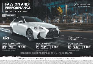 The Lexus F Sport Event at Heffner Lexus