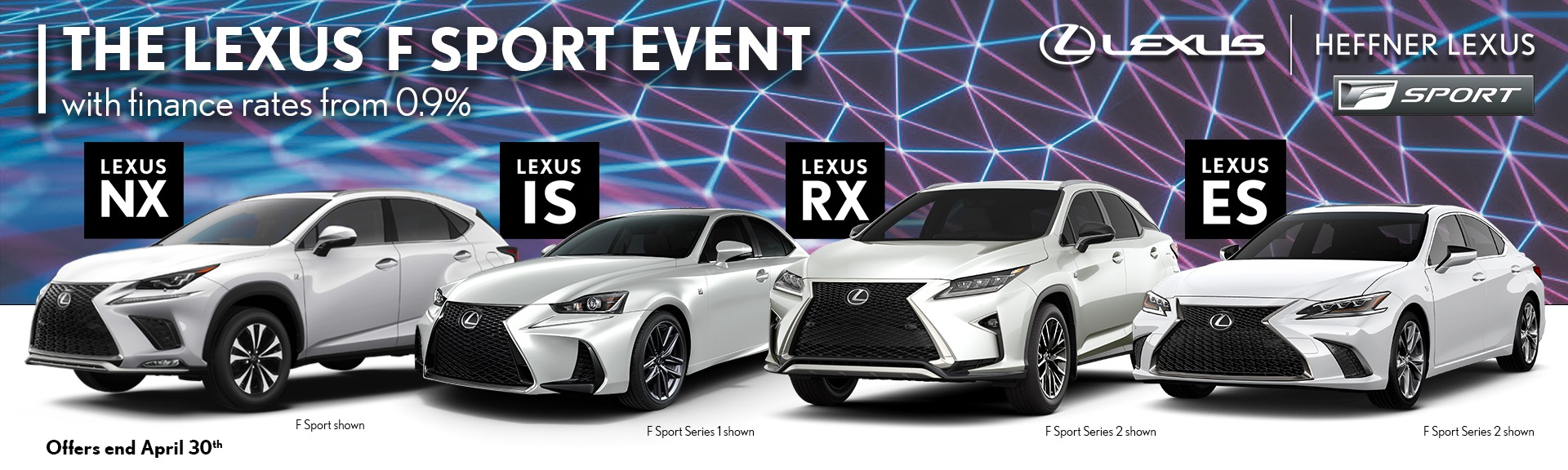 April Promotions from Heffner Lexus