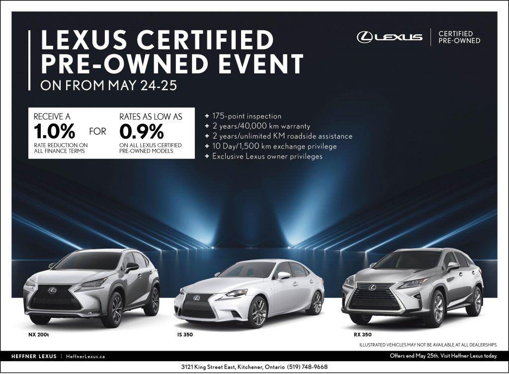 LCPO May 24&25 at Heffner Lexus