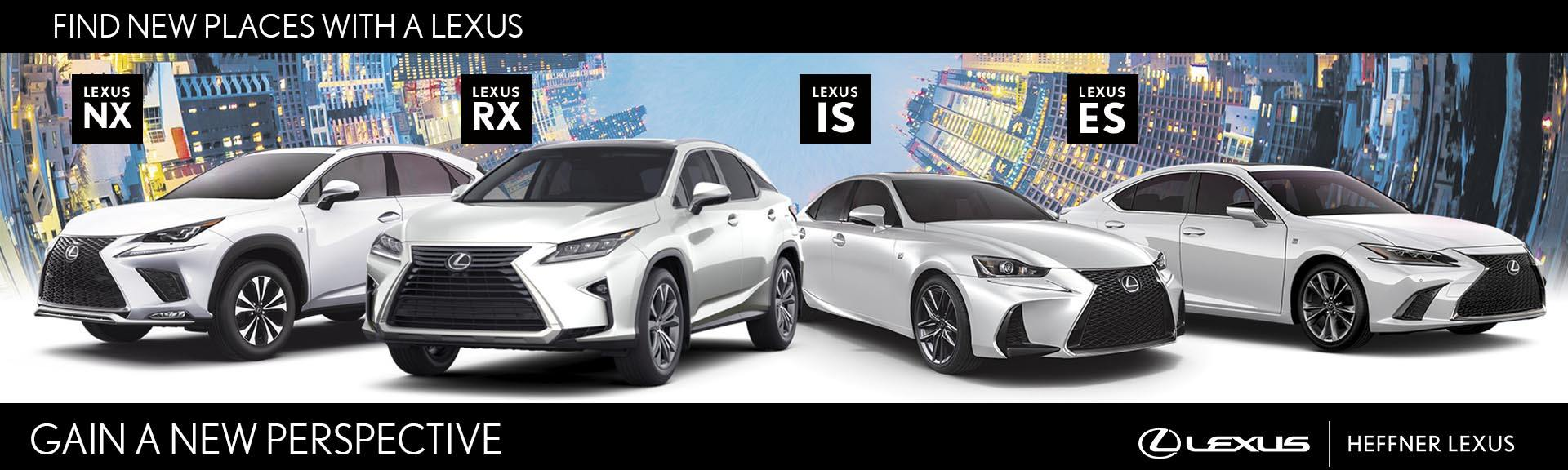 Gain a new perspective with Heffner Lexus' August promotions.