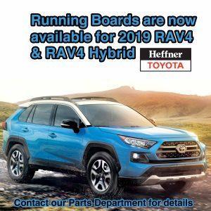 Running Boards are now available for the 2019 RAV4 & RAV4 Hybrid.