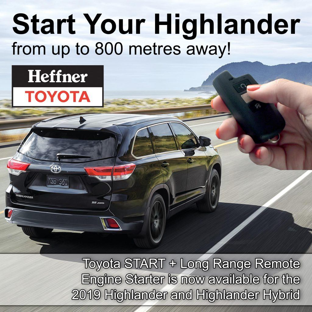 Start + Highlander and Highlander Hybrid