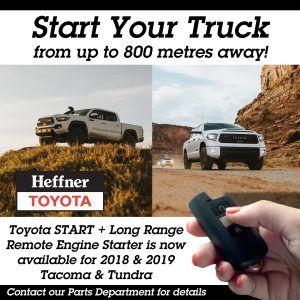 Start + Tacoma and Tundra