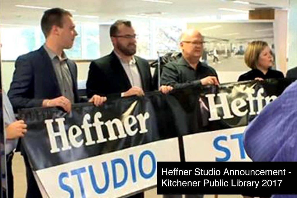Heffner Studio Announcement - Kitchener Public Library 2017