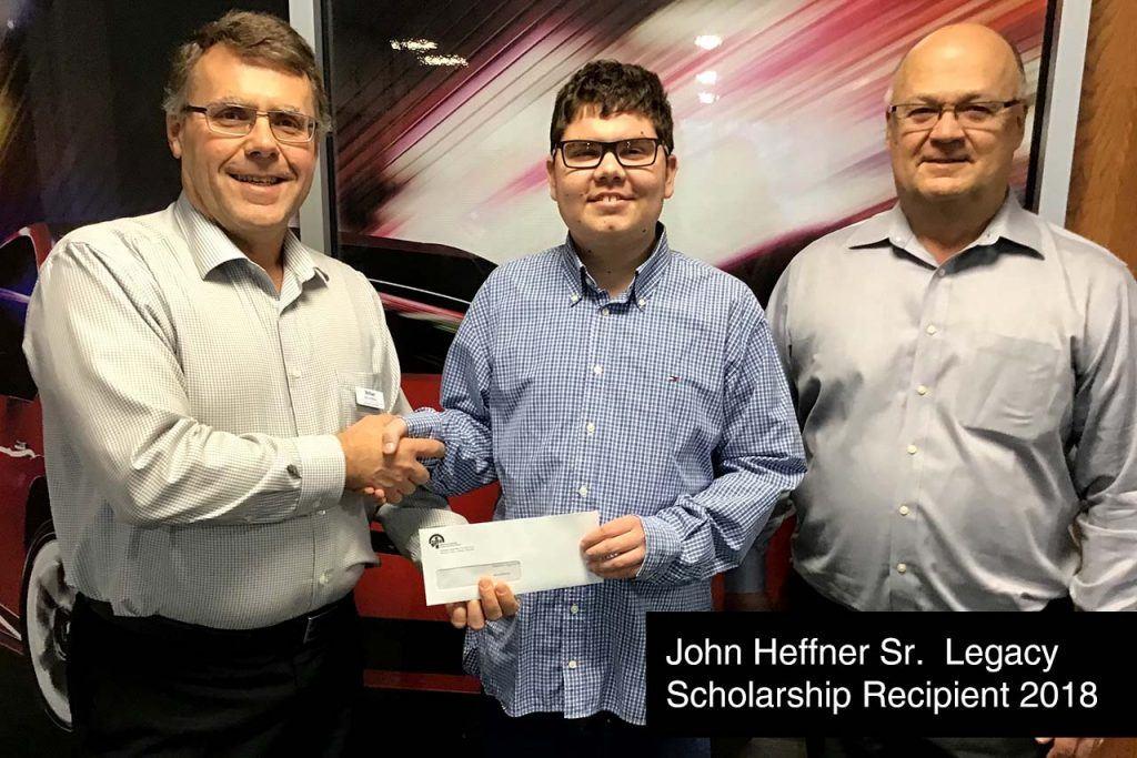 John Heffner Sr. Legacy Scholarship Recipient 2018