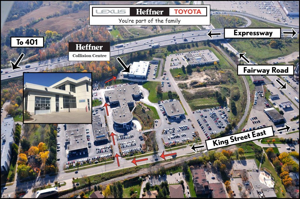 Property Map to Heffner Collision Centre.