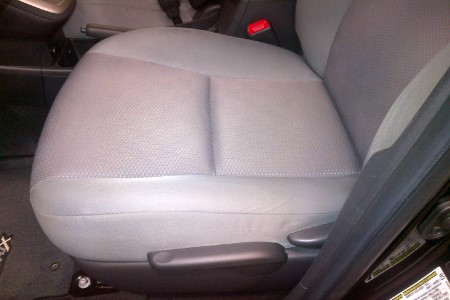After photo of clean seat