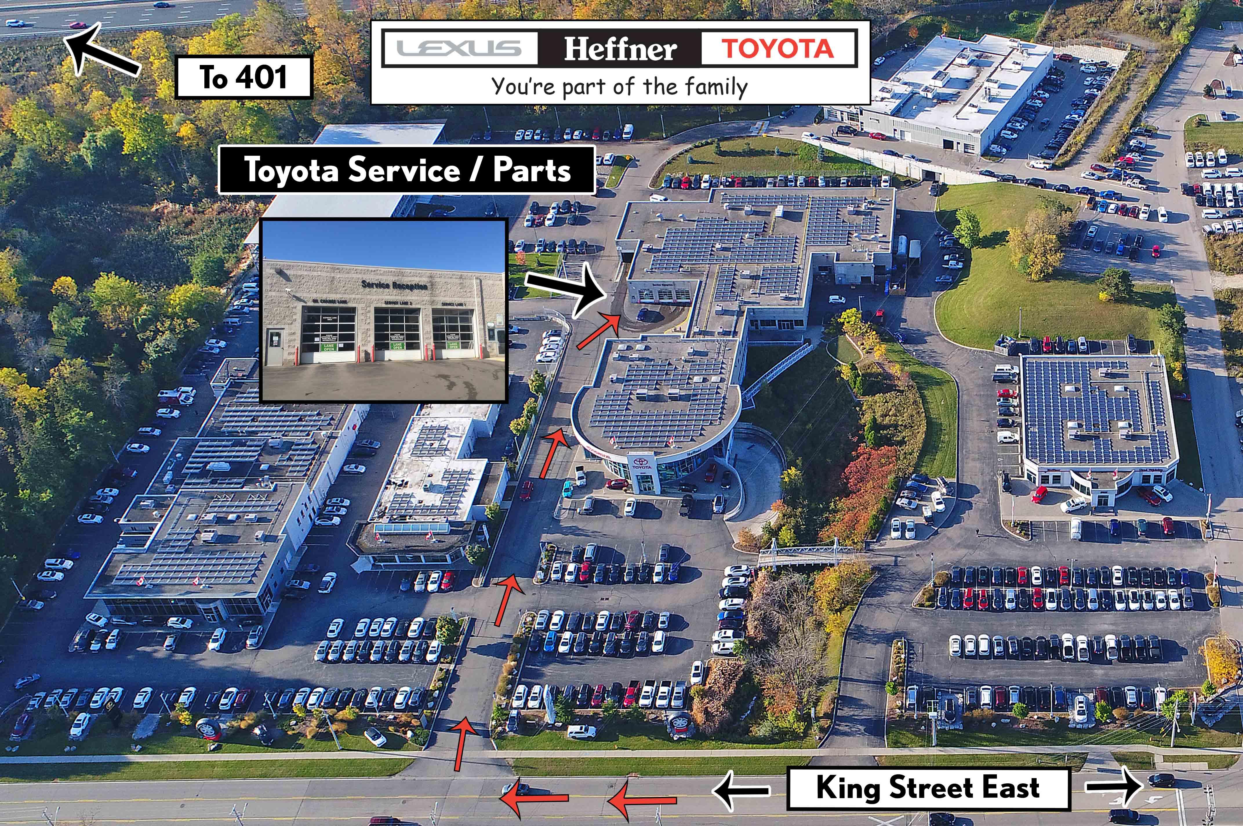 Heffner Toyota Parts Map