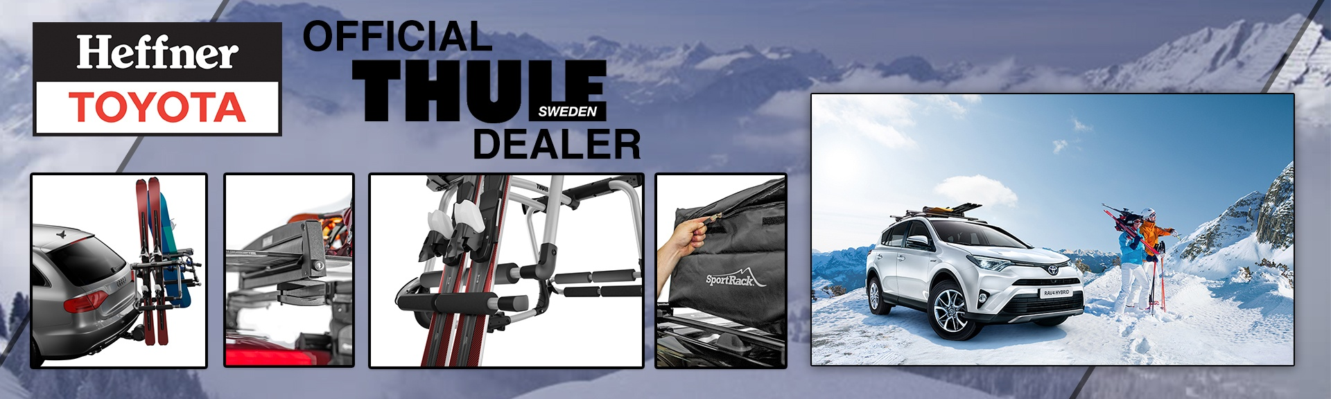Heffner Toyota is an Official Thule Dealer.