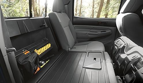 toyota-2019-tacoma-features-design-double-cab-dark-grey-premium-cloth-interior-rear-folding-seat-l