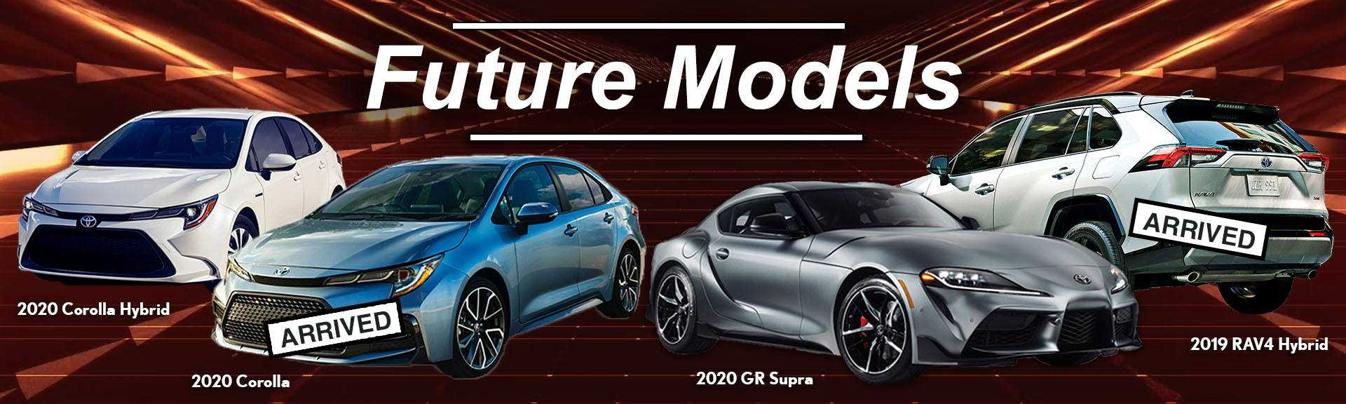 Future Toyota Models coming soon to Heffner Toyota.