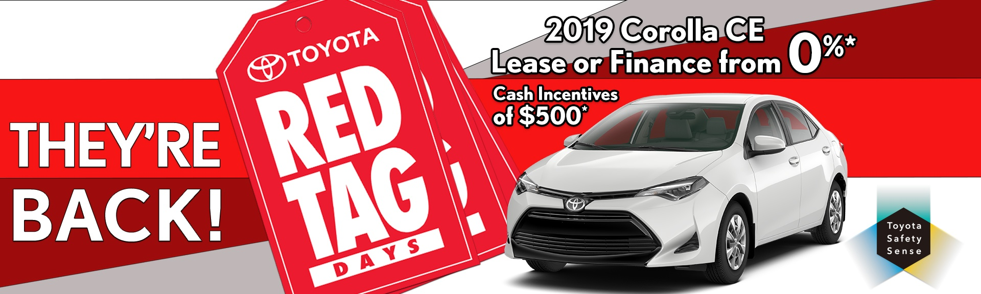 Red Tag Days at Heffner Toyota.