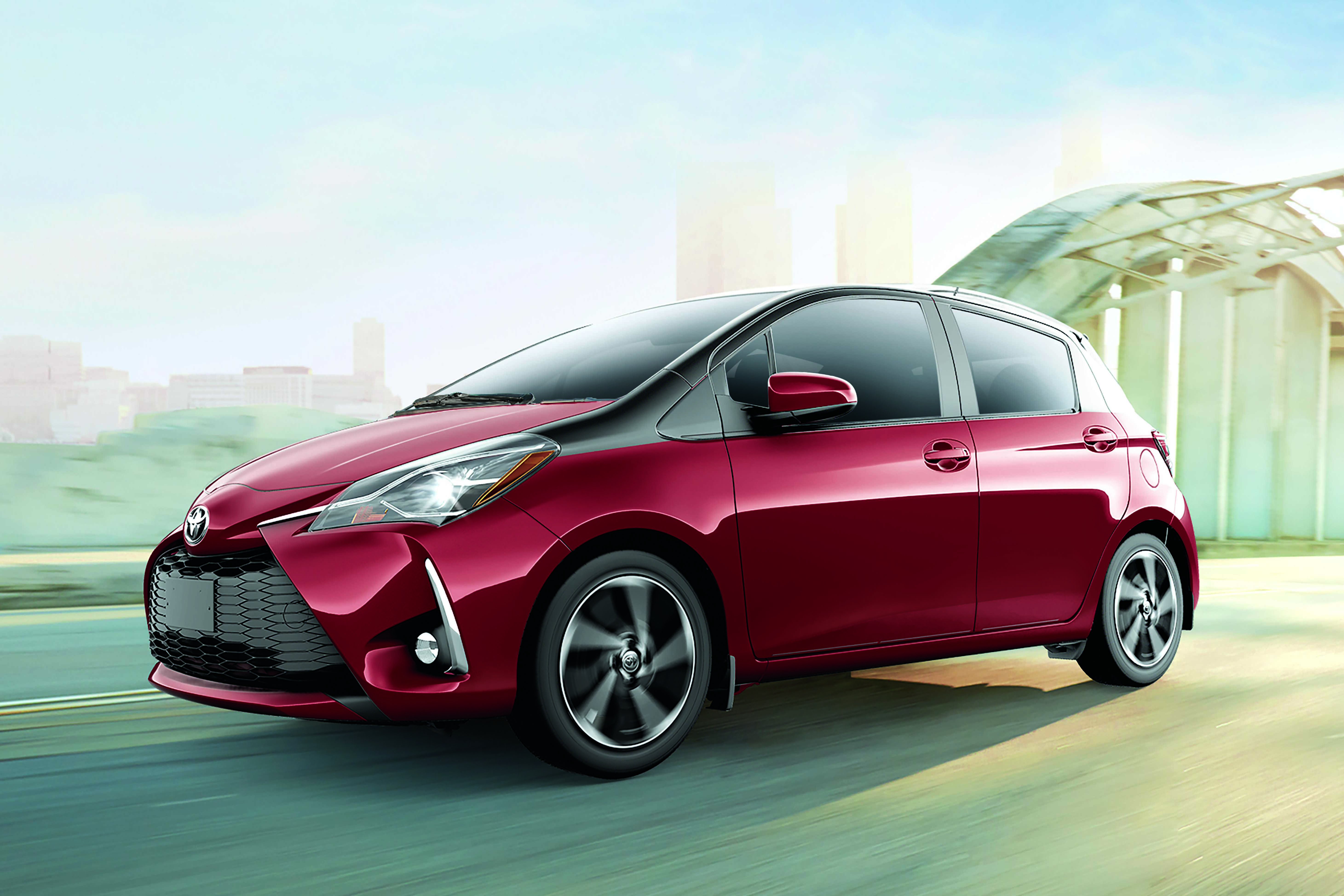 Yaris Hatchback in Ruby Flare Pearl