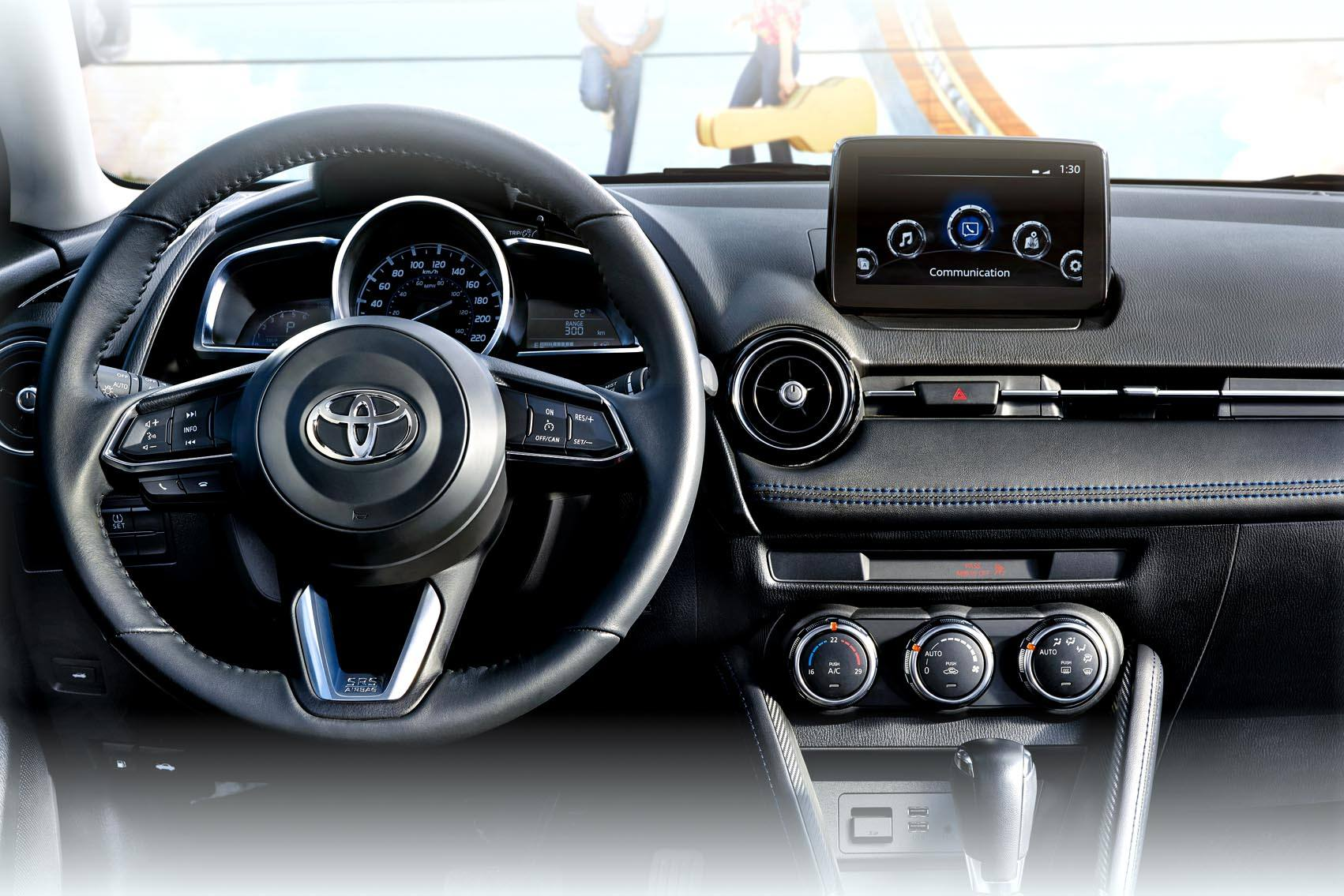 Advanced Suite of Advanced Infotainment on the Yaris
