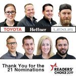 Heffner Lexus Toyota nominees in the 2019 Record Readers' Choice Awards