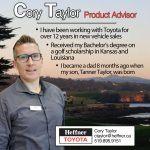Heffner Team Member Spotlight. Cory Taylor. Product Advisor. Heffner Toyota.