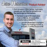 Heffner Team Member Spotlight. Jake Hebscher. Product Advisor.