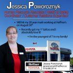 Heffner Team Member Spotlight. Jessica Poworoznyk. Human Resources. Heffner Toyota.
