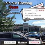 Join the Team. A career at Heffner's is more than just selling cars.