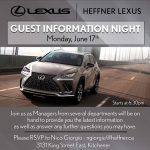 Lexus Guest Information Night June 17