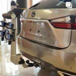 Lexus RX displays Thule products at Heffner Lexus.
