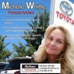 Member Spotlight. Michelle Whittle. Product Advisor. Heffner Toyota.