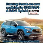 Running Boards are now available for the 2019 RAV4 & RAV4 Hybrid
