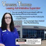 Heffner Team Member Spotlight. Vanessa Thomas. Leasing Administrative Supervisor. Heffner Toyota.