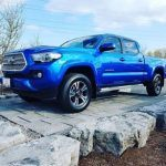 2016 Blue Tacoma at the Heffner Used Vehicle Centre